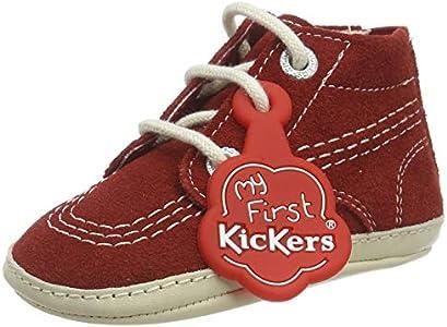 Kickers Kick Hi Crib, Botas Cortas al Tobillo Unisex bebé, Rojo, 17 EU