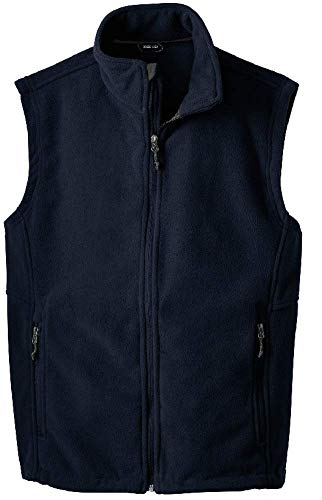 Joe's USA Men's Soft and Cozy Fleece Vest-L-Navy