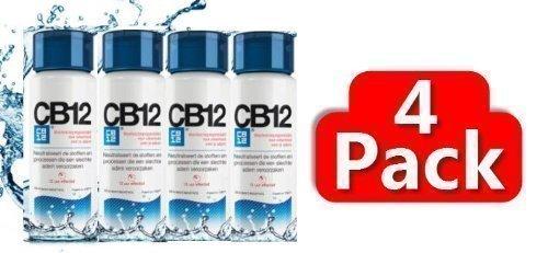 CB12 - Enjuague bucal menta/mentolado, 4 paquetes de 250ml