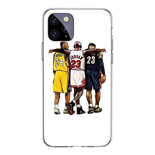 Jordan Kobe James - Carcasa duradera para iPhone X/XS, XR, XS Max, 11, 11Pro, 11Pro Max, antihuellas de TPU, cubierta protectora de goma, absorción de golpes y arañazos A- 11 Pro Max