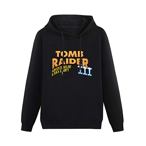 Tomb Raider III Adventures of Lara Croft Pullover Hoodies Classic Sweatshirts Hoodies with Kangaroo Pocket Hoody Black 3XL