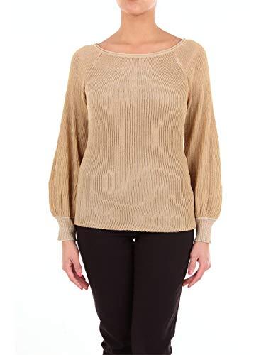 Blumarine 4250 Suéteres con Cuello Redondo Mujer Camello M