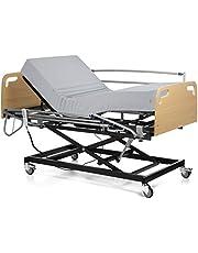 Ferlex - Cama articulada con Carro Elevador | Cabecero y Piecero | Colchón Sanitario viscoelástico | Barandillas abatibles