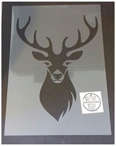 Schablone, Hirschkopf, Shabby Chic, Kunststoff, A4-Format,design 5, 297 x 210 mm