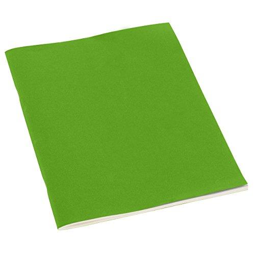 Übungsheft A4 liniert Lindengrün +++ 32 Blatt filigranes Papier (liniert) +++ Notizbuch oder Broschüren für Notizen oder Skizzen +++ Original Qualität von Semikolon