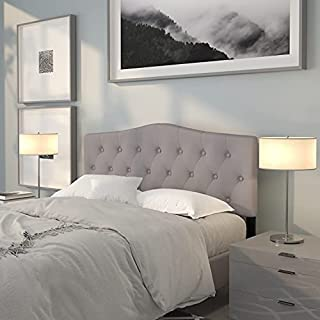 Flash Furniture Cambridge Tufted Upholstered Queen Size Headboard in Light Gray Fabric (B079C73GRF) | Amazon price tracker / tracking, Amazon price history charts, Amazon price watches, Amazon price drop alerts