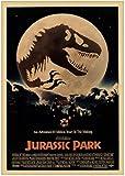 HGVFR Leinwanddruck Jurassic Park Dinosaurier Retro Poster