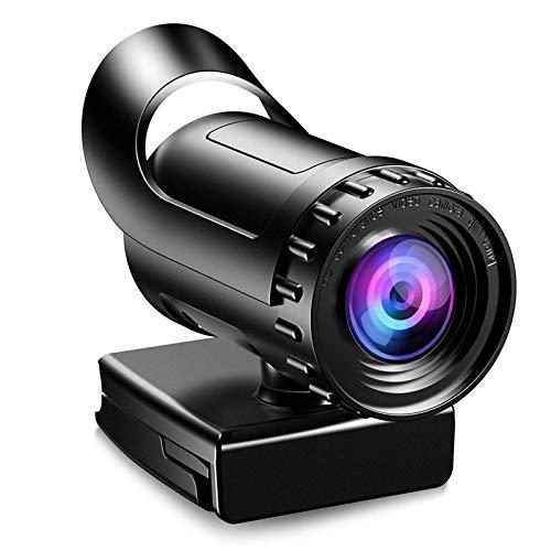 Webcam con micrófono 1080p / 2k / 4k Full HD USB Web Lad con 8 millones de píxeles 120 ° Plug Angular Plug and Play Cancelación de...