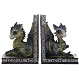 Cute Baby Sweet Dreams Pair of Dragon Bookends-DRG475