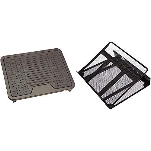AmazonBasics - Reposapiés + Soporte ajustable ventilado para portátil