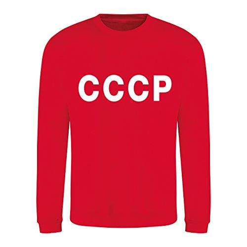 Retro CCCP Sowjetunion Fußball Fan Sweatshirt Langarm