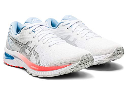 ASICS Women's Gel-Cumulus 22 Running Shoes, 8.5M, White/Pure Silver
