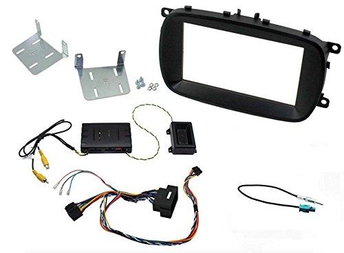 G.M. Production - KIT 500 solo X - KIT MASCHERINA COMANDI AL VOLANTE AUTORADIO MONITOR GPS 2 DIN [controllare i dettagli in inserzione] - Profondità massima 2 DIN 12cm