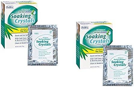 PediFix Soaking Crystals Foot Max 82% OFF Bath 2 Pack pe - Max 50% OFF 1 oz. 6 packets