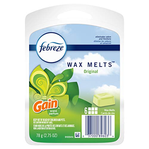 Febreze Wax Melts Air Freshener With Gain, Original Scent (Pack of 8)