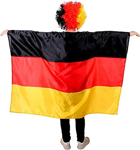 Disfraz de bandera alemana de la Copa del Mundo de Alemania 2018, accesorio para eventos deportivos y das nacionales (paquete de 1)