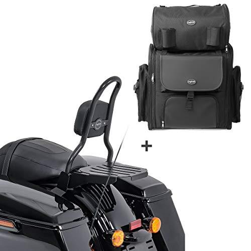 Sissybar CSM + Hecktasche für Harley Road King Special 17-21 mit Gepäckträger