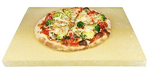Pizzastein Pizzaplatte Steinofen Flammkuchen 40x30x3cm Lebensmittelecht für Backofen Herd und Grill incl. Anleitung
