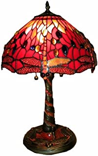 Warehouse of Tiffany's T14288TGRA Dragonfly Lamp w/Mosaic Base, 14