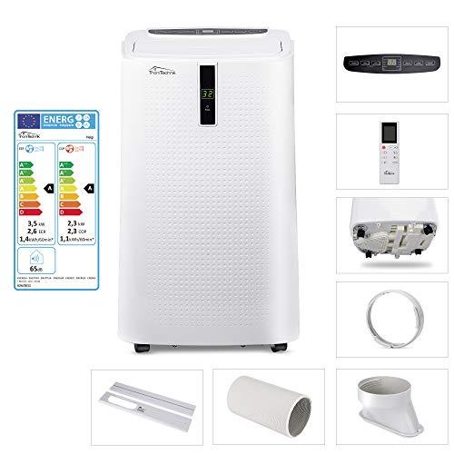 Tronitechnik Mobiles Klimagerät Klimaanlage HELGI 12000 BTU inkl. Abluftschlauch, Fensterschiene Wärme, Entfeuchtung, Heizung und Ventilator