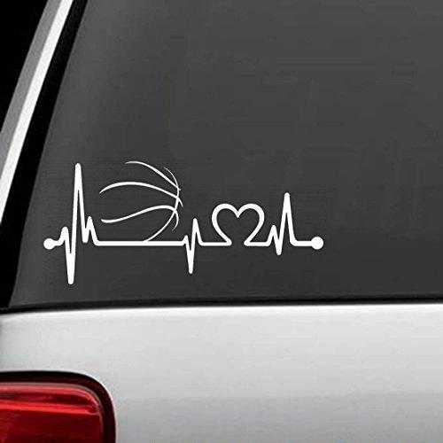 wandaufkleber 3d Wandtattoo Wohnzimmer Basketball Heartbeat Lifeline Monitor Aufkleber Aufkleber Die Cut Aufkleber Aufkleber für Windows, Autos, LKWs, Laptops, etc. (8 x 3,5 Zoll)