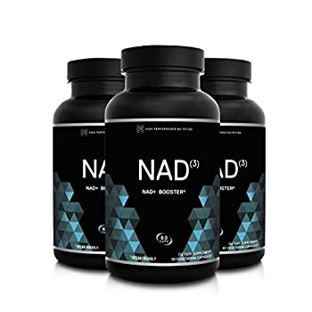 HPN NAD+ Booster – Nicotinamide Riboside Alternative  NAD3  for Men & Women   Anti Aging NRF2 Activator Superior to NADH – Natural Energy Supplement for Longevity & Cellular Health 60 Caps 3-Pack