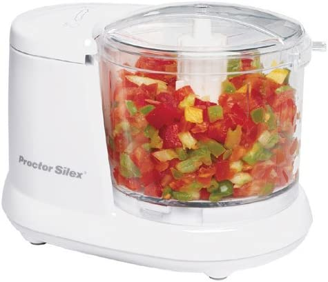 Proctor Silex Durable Mini 1.5 Cup Food Processor & Vegetable Chopper for Dicing
