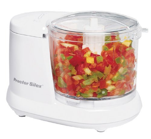Proctor Silex Durable Mini 1.5 Cup Food Processor & Vegetable Chopper for Dicing, Mincing & Puree,...