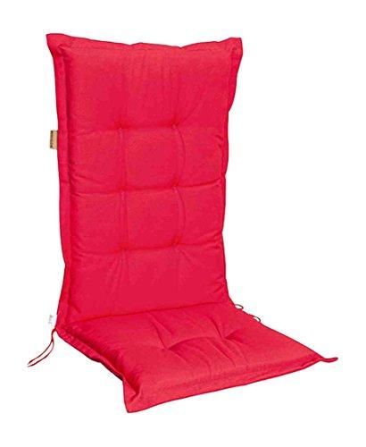 Madison B220 Coussin Bas Dossier Motif Panama 75% Coton 25% Polyester Rouge 50 x 105 cm