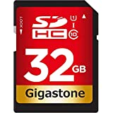Gigastone 32GB SDカード UHS-I U1 Class 10 SDHC メモリーカード 高速 フルHD ビデオ Full HD