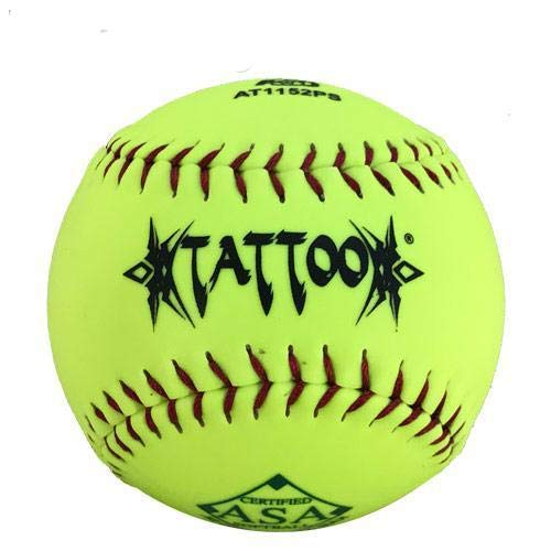 AD Starr Tattoo 52-300 11 Inch Synthetic ASA Slowpitch Softball - One Dozen: AT1152PS
