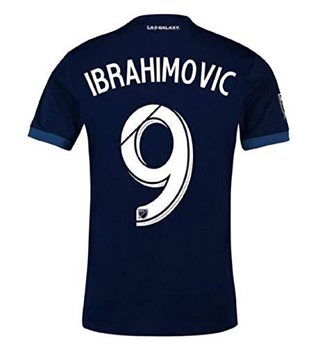 trfgy Men's Los Angeles Galaxy #9 Ibrahimović Away Jerseys 18/19 Soccer Jersey Blue(S-XL) (XL)