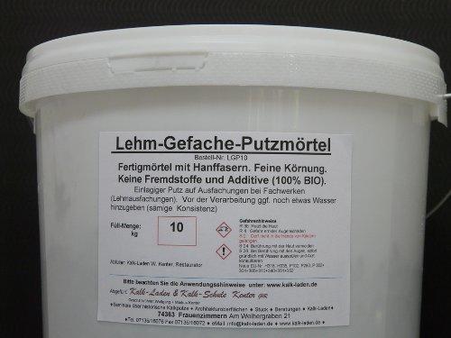 Lehm-Gefache-Putzmörtel, für Lehm-Ausfachungen im Fachwerk, 100 % BIO, 10 kg