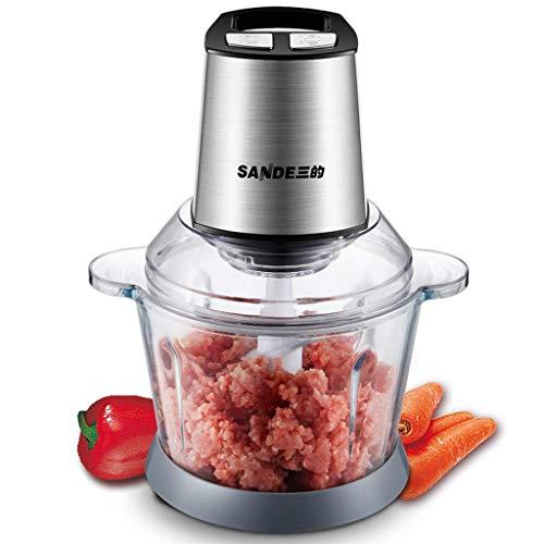 Mnjin Fleischwolf-Zangenmaschinen Elektrische Küchenmaschine, Mehrzweck-Smart-Küchen-Zerhacker Gemüse-Obstschneider Zwiebelschneider Dicer, Mixer und Fleischwolf, 3L mit großem Fassungsvermögen
