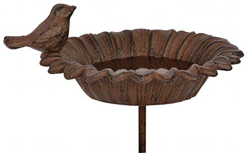 Esschert Design Vogeltränke, Vogelbad auf Stab
