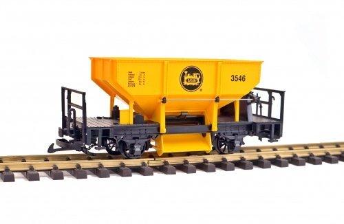 LGB Schüttgutwagen, Schotterwagen 3546, gelb-orange, Spur G Gartenbahn