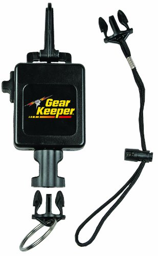 Hammerhead Industries Gear Keeper Deluxe Locking Scuba Console Retractor RT3-5913–Secure Console at Hip or Chest Area-Durable Snap Clip Mount with Q/C-II Split Ring and Lanyard Accessory-Made in USA