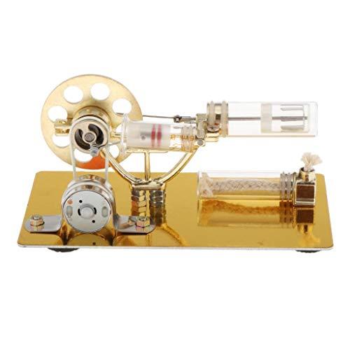 perfeclan Stirlingmotor Strom Generator Pädagogisches Spielzeug Geburtstagsgeschenk für Kinder und Technikbegeisterte - A