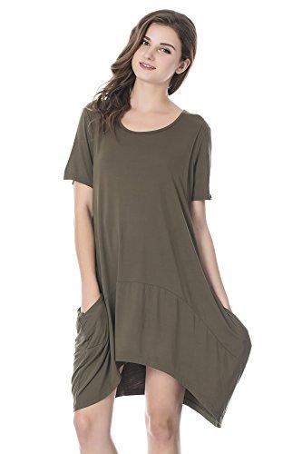 Product Image of the Bearsland Women's Maternity Short Sleeves Summer Breastfeeding Nursing Dresses...
