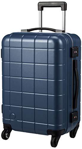 [プロテカ] スーツケース 日本製 機内持ち込み可 ストッパー付 サイレントキャスター チェッカーフレーム 保証付 35L 3.5kg ブルーグレー