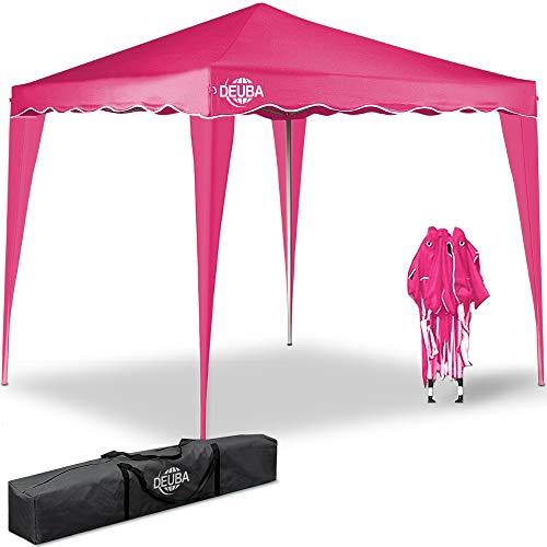 Deuba® Paviljoen Capri 3x3m | waterdicht | pop-up | incl. tas | UV-bescherming 50+ | vouwpaviljoen tuintent partytent | kleurkeuze roze
