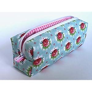 Federmäppchen Federtasche Rosen aus Designerstoff Schlamper Stiftetasche Etui
