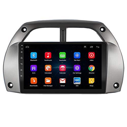 Autoradio Android 9.1 per Toyota RAV4 2001-2006, Supporto Stereo per Auto con Navigazione GPS Bluetooth/USB/SWC/FM/Google Map/multilingue,WiFi 1G+16G
