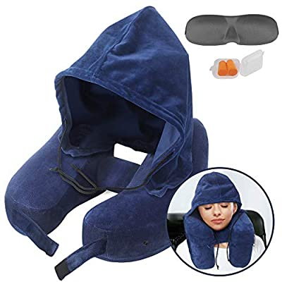 travel pillows for airplanes with hood