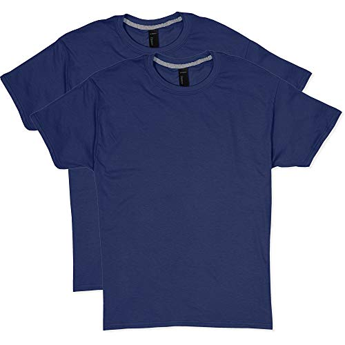 Hanes Men's 2 Pack X-Temp Performance T-Shirt, Navy, X-Large