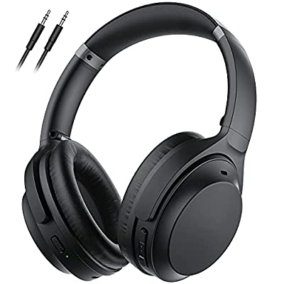 Wireless Noise Cancelling Headphones, Type-C Quick Charge Over Ear Headphones with 40H Playtime, Hi-Fi Stereo Deep Bass Wireless Headset with CVC 8.0 Mic for Travel Work TV PC Cellphones from Lovchter