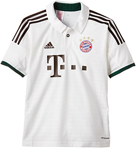 adidas Kinder Trainingsshirt FC Bayern München Trikot Away, Weiß / Braun, G73666, Gr. 176