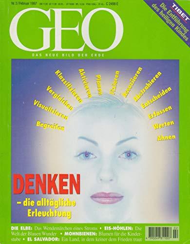 Geo Heft 2/1997 - Die Elbe - Denken - Mohnbiene - Pantschen Lama - Eis-Höhlen - El Salvador
