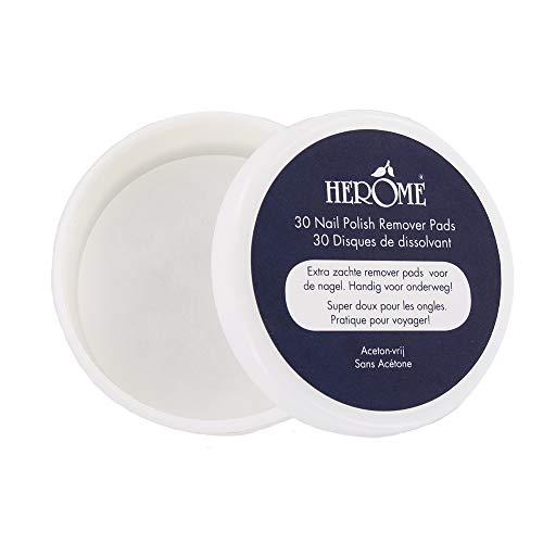 Herome Caring Nagellackentferner Pads (Polish Remover Pads - 1 x 30 pads - die Nägel auf milde Weise schnell und gründlich reinigen