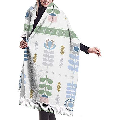 Nice-Guy Scandi Folk Art inspiriert Weihnachten Schal Wrap Winter warme Schal Cape große weiche gemütliche Kaschmir Schal Wrap Womans warme Schal Stola